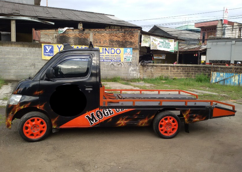 bemper interior modifikasi mobil pick up grand max